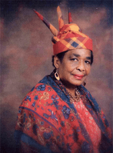 Beulah Fagan Providence Founder, Executive Director wearing the traditional dress of island Dominica, West Indies